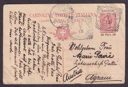 Italy - Solun / Salonicco - Stationery Sent From Salonicco To Zagreb 1913. - Sin Clasificación