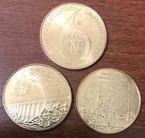13 MARSEILLE FORUM MONDIAL DE L'EAU LA SÉRIE DE 3 MÉDAILLES MONNAIE DE PARIS 2012 JETON TOURISTIQUE MEDALS COINS TOKENS - 2012