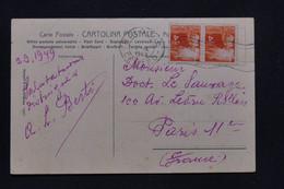 ITALIE - Affranchissement De Bologna Sur Carte Postale En 1949 Pour Paris - L 100106 - 1946-60: Marcofilia