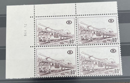 TR N ° 394 B2 ** BLOC DE 4 AVEC COIN DATÉ - 1952-....