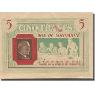 France, Bon De Solidarité, 5 Francs, 1941, TTB - Bons & Nécessité