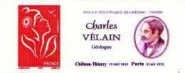 France Autoadhésif N°   49 **  TVP - Marianne De Lamouche + Logo Personnalisé Privé De Charles Velain, Géologue - Adhesive Stamps