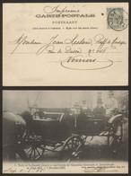 Carte Postale - Visite De Sa Majesté Léopold II Aux Travaux De L'Exposition Universelle & Internationale De Liège 1905 - Liège