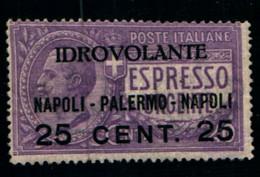 """20201) ITALIA-Espresso Urgente Sovrastampato """"IDROVOLANTE"""" - Tipo POSTA AEREA - 27 Giugno 1917 -MNH** - Correo Aéreo"""
