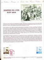 Document Officiel Imprimerie Poste Fdc 1989  Lyon Soieries Signe Lambert - 1980-1989