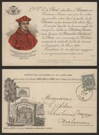 Carte Postale - Exposition Universelle De Liège 1905 : Carte D'invitation Pour La Dégustation De Vin Dans Le Jardin De L - Liège