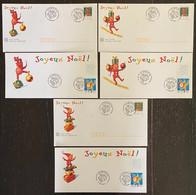 ⭐ France - Entiers Postaux - Entier Postal - Joyeux Noel - Marché De Noël - Bouchain - 1999 ⭐ - Commemorative Postmarks