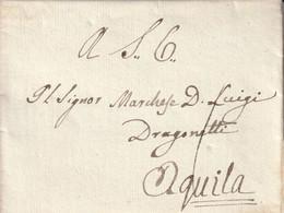 Italie Marque Postale Avec Correspondance NAP. 1841 - 1. ...-1850 Prefilatelia