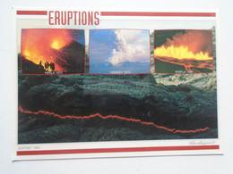 D180280 Iceland Island  - Volcanoes - Eruptions   Hekla 1970- Heimaey 1973 -Krafla 1980- Surtsey 1965 - IJsland