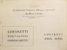 Catalogo Lavorazione Italiana Metallo Artistico De Bernardi & Cornaglia Anni '30 - Obj. 'Remember Of'