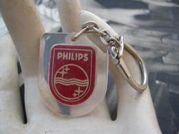 Ancien Porte Clefs Vintage Keychain Keyring PC -   Philips TV Radio C Clyti Rue Rabelais Lille Fives - Llaveros