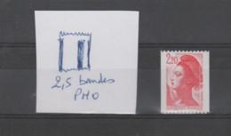FRANCE / 1985 / Y&T N° 2379 ** : Liberté 2.20F Rouge (de Roulette Sans N° Rouge) X 1 - Variété 2,5 Bandes PHO - Abarten: 1980-89 Ungebraucht