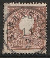 """Österreich 1859 MiNr. 14 Type II """"STRASSNITZ"""" Schön Gestempelt - Usados"""