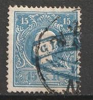 Österreich 1859 MiNr. 15 Type II SPECIALE STEMPEL - Blauw Met Letters GIO ... Op Een Soort Lint. - Usados