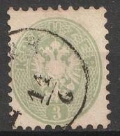 Österreich, Austria  1863 3 Kr.  MiNr. 31 Gestempelt - Usados