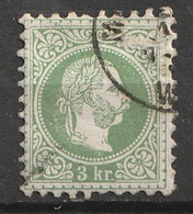 Österreich, Austria  1863 3Kr. Grober Druck  MiNr. 36 Ia Gestempelt - Usados