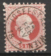 """Österreich, Austria  1863 5 Kr. Feiner Druck  MiNr. 37 II A """"JOSEFSTADT WIEN"""" - Usados"""