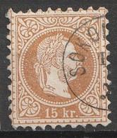 Österreich, Austria  1867 15Kr.  Grober Druck MiNr. 39 IA - Usados