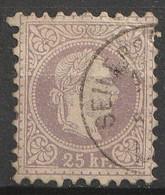 Österreich, Austria  1867 MiNr. 40 I Ac 25 Kr. Braunviolet Gestempelt - Usados