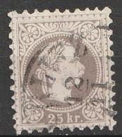 Österreich, Austria  1867 MiNr. 40 II A Lilagrau Gez K 9 1/2 Gestempelt - Usados