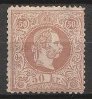 Österreich, Austria  1867 MiNr. 41 I Db 50 Kr. Braunlichrosa MH * (cat € 400) - Nuovi