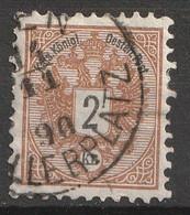 Österreich, Austria  1883 MiNr. 44D Gezahnt 10,5 Gestempelt, - Usados