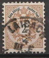 Österreich, Austria  1883 MiNr. 44D Gezahnt 10,5 Gestempelt - Usados
