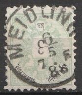 """Österreich, Austria  1883 MiNr. 45D Gezahnt 10,5 Gestempelt """"MEIDLING"""" - Usados"""