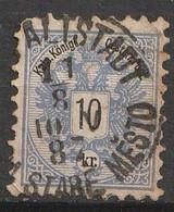 """Österreich, Austria  1883 MiNr. 47A Gestempelt """"ALTSTADT STARÉ MESTO"""" - Usados"""