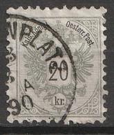 Österreich, Austria  1883 MiNr. 48D Gezahnt 10,5 Gestempelt, - Usados