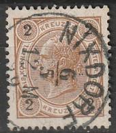 """Österreich, Austria  1890 2 Kreuzer Gez. 12,5  MiNr. 51 """"NIXDORF"""" - Usados"""