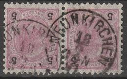 """Österreich, Austria  1890 5 Kreuzer Gez. 10,5 Paartje MiNr. 53 """"NEUNKIRCHEN"""" - Usados"""
