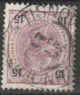 """Österreich, Austria  1890 15 Kreuzer Gez. 12,5  MiNr. 56 """"TISNOV"""" - Usados"""