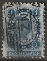 Österreich, Austria  1890 1 Gulden Gez. 10,5  MiNr. 61 Schraffenstempel - Usados