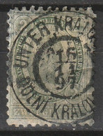 """Österreich, Austria  1896 2 Gulden Seegrün. Gez. 10,5  MiNr. 68 """"UNTER KRALOV"""" Central Gestempelt - Used Stamps"""