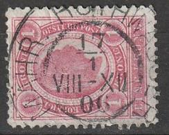 """Österreich, Austria  1899 1 Krone.   MiNr. 81C (Gez. L 12,5) """"MAHR. ROTHWASSER"""" Schön Gestempelt - Used Stamps"""