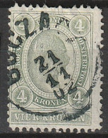 """Österreich, Austria  1899 4 Krone.   MiNr. 83C (Gez. L 12,5) """"BOZCA.."""" - Used Stamps"""