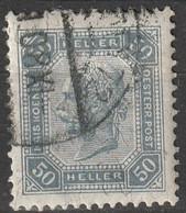 Österreich, Austria  1901 MiNr. 130 Ohne Lackstreifen - Used Stamps