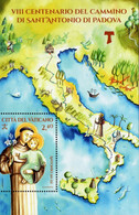 Vatican - 2021 - 800 Years Since St. Anthony Of Padua Voyage - Mint Souvenir Sheet - Ongebruikt