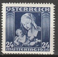 Österreich, Austria  1936 Muttertag  Mi.627 ** MNH Postfrisch - Unused Stamps