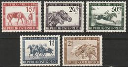 Österreich, Austria  1946 Mi. 785-789 Pferderennen MNH ** Horses - 1945-60 Unused Stamps