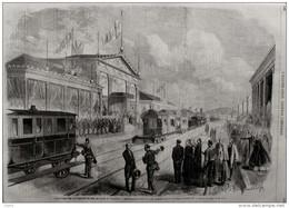 Inauguration Du Chemin De Fer De Rome à Velletri - Page Original 1862 - Documenti Storici