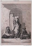 Les Chefs Touaregs Récemment Arrivés En France - Page Original 1862 - Documents Historiques