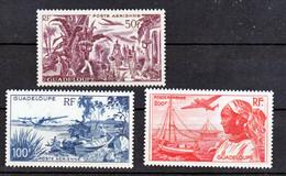 Guadeloupe PA 13/15 Vues Neuf Avec Trace De Charnière* TB MH Con Charnela Cote 26.75 - Poste Aérienne