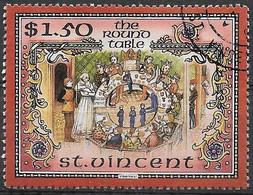 ST. VINCENT - 1986 - RE ARTU' - LA TAVOLA ROTONDA- $ 1,50 - USATO (YVERT 966 - MICHEL 992) - St.Vincent Y Las Granadinas
