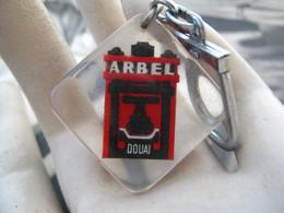 Ancien Porte Clefs Vintage Keychain Keyring PC -  Bourbon Arbel Douai Constructeur Ferroviaire - Llaveros