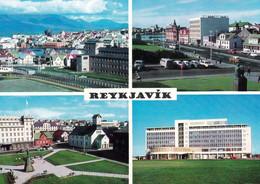 1 AK Island / Iceland * Reykjavik Blick Vom Hotel Saga, Die Straße Lækjargata, Hotel Borg Und Die Kathedrale, Hotel Saga - IJsland