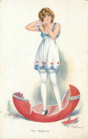 ILLUSTRATEUR  F.Fabiano (edition Lapina)  Femme , Charme , Ange - Altre Illustrazioni