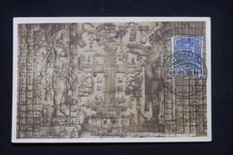 MEXIQUE - Carte Maximum En 1938 - Bas Relief  - L 100150 - Mexico