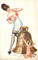 ILLUSTRATEUR  Hérouard  (edition Lapina)  Femme , Charme , Angelot - Altre Illustrazioni